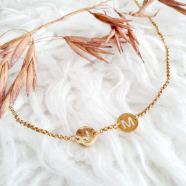 Initialcoin-ketting met tussenzetsels