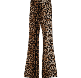 Flaired broek Leopard