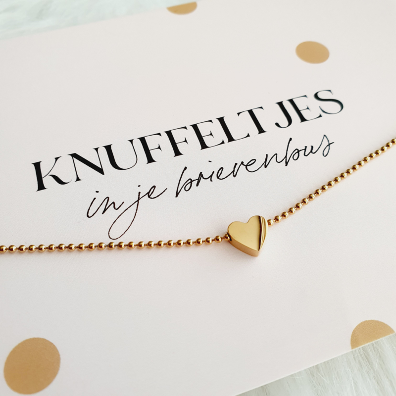 Bolletjesketting met ♡