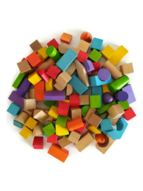 100 houten blokjes