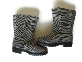 23 - regenlaarsjes met zebraprint