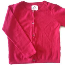 116 - Zara roze-rood vestje met gouden knoopjes