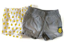98/104 - Lupilu set van 2 korte broeken