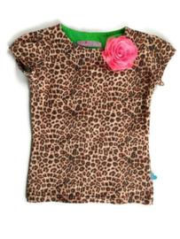 122/128 - Waaaw shirt met verwisselbare bloem