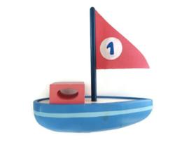 Sebra houten zeilboot