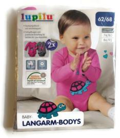 62/68 - Lupili 2-pack rompers met lange mouw (nieuw)