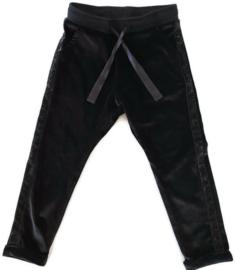 86/92 - Hema 'fluwelen' broek met glitterbies
