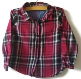 98 - Primark geruite blouse