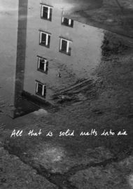 ALL THAT IS SOLID MELTS INTO AIR by DELPHINE BEDEL