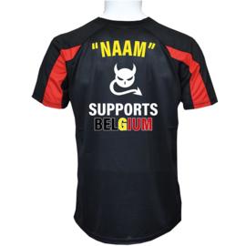 KIDS - Sportshirt Zwart BELGIUM