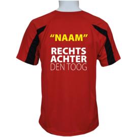 Sportshirt Rood RECHTSACHTER den toog