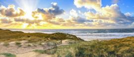 Strand van Texel, ringen in de hoeken.