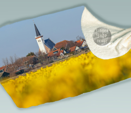 Kerk den Hoorn en Narcissen, Fleece Deken.