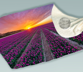 Tulpen op Texel. Fleece Deken.