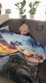 Genieten van je favoriete films onder een heerlijk zachte Fleece deken.