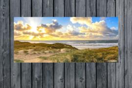 Tuinposter, panorama strand van Texel.