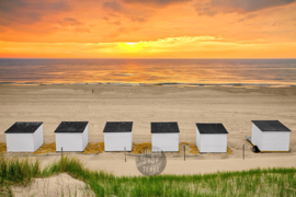 Strandhuisjes, Fleece Deken.