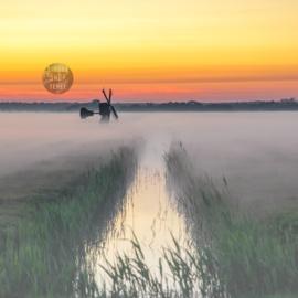 4-Kantje: Mist op Texel, materiaal canvas.