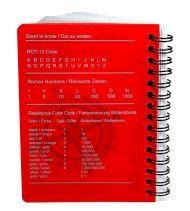 CacheQuarter Spiraal logboek regular - A6 rood