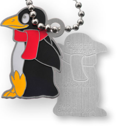 Coins and Pins travel tag - Pinguin