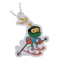 Groundspeak travel tag - Signal the Frog - skiër