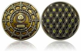 CacheQuarter Colors of Geocaching OPTIMISM - geel / antiek goud
