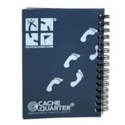CacheQuarter Spiraal logboek regular - A6 blauw