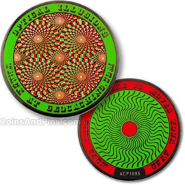 Coins and Pins Coin Optische Illusies - groen