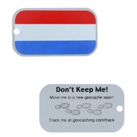 Oakcoins Travel Tag - Nederlandse vlag