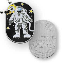 Coins and Pins travel tag - astronaut