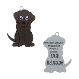 Oakcoins Travel Tag - Tracker the Labrador