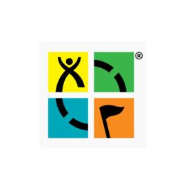 Groundspeak Sticker Geocaching logo - vier kleuren