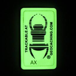 Groundspeak Travel bug patch Glow in the dark