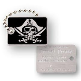 Coins and Pins Travel Piraat tag