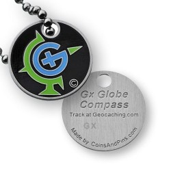 Coins and Pins Travel Globe tag