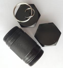 Cache container - capsule (zwart)