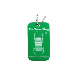 Groundspeak Travel Bug QR Tag - Groen