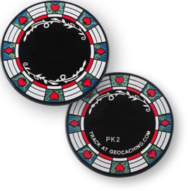 Coins and Pins Casino Poker coin - zwart