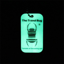 Groundspeak Travel Bug QR Tag - Glow in the Dark -