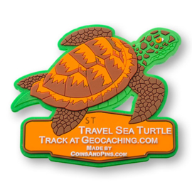 Coins and Pins travel tag - zeeschildpad