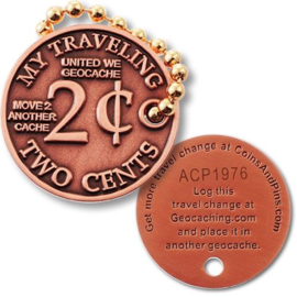 Coins and Pins Travel Two cents