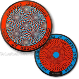 Coins and Pins Coin Optische Illusies - rood