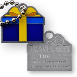 Coins and Pins Travel Gift tag