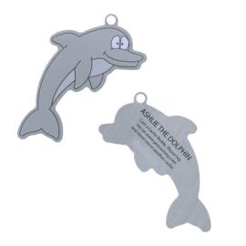 Oakcoins Travel Tag - Ashlie the Dolphin