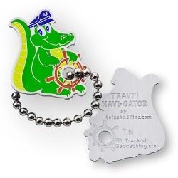 Coins and Pins Travel Navi-Gator tag