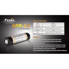 Fenix 18650 Li-ion accu 2600 mAh