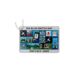 Groundspeak Blue Switch - Travel Tag