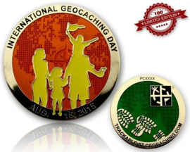 CacheQuarter Int Geocaching Day 2015 - goud oranje