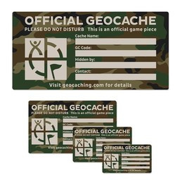 Groundspeak medium cache label - camouflage groen