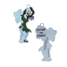 Tiffany-the-zombie travel tag